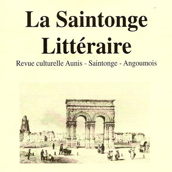 Dessin de l`arc Romain de Saintes et titre de la Revue